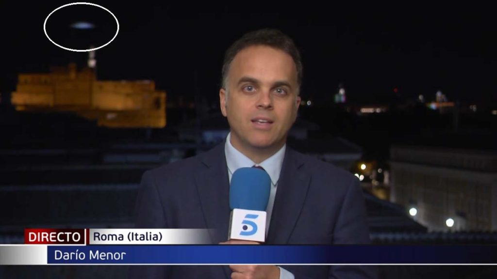 UFO Spotted On Live Television