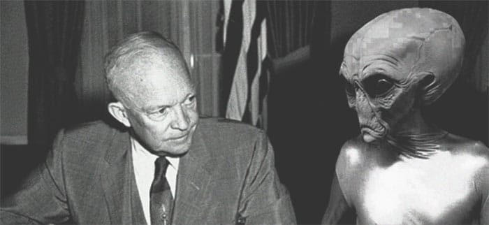 Ex-Pentagon consultant says President Eisenhower had 3 secret meetings with Aliens