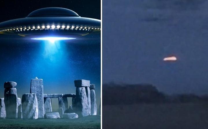 UFO Hovering Near Stonehenge