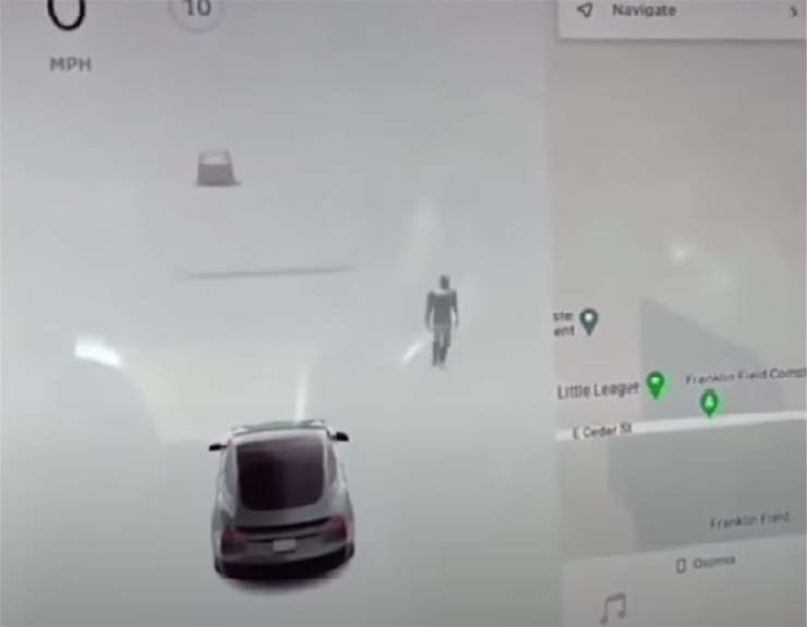 Tesla Car Detected A Ghost