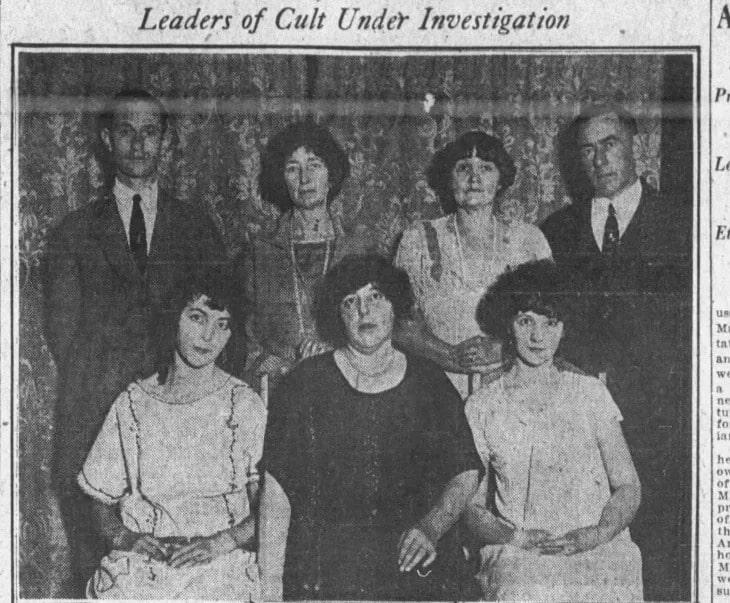 Newspaper cutting of The Blackburn Cult
