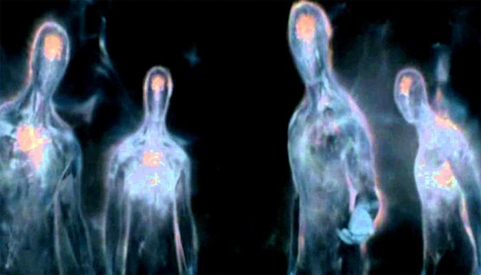 Strange Glowing Humanoids