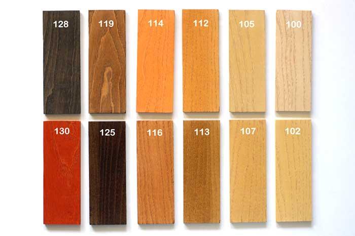 Infissi in pvc effetto legno tabella colori