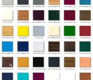 tabella colori infissi in PVC Monza