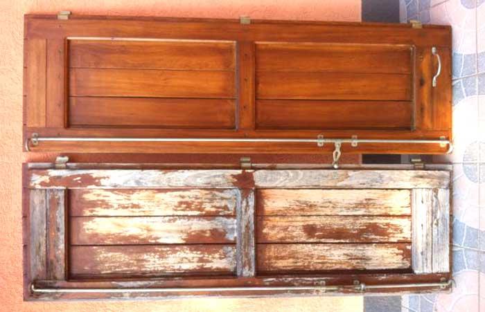 Restauro infisso in legno: foto prima e dopo il trattamento