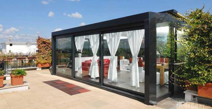 Infissi per verande: verande in alluminio Milano
