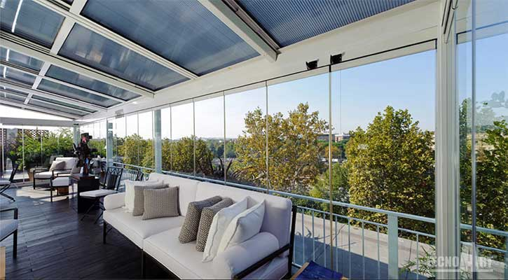 Veranda Sunroom in vetro TECNOART