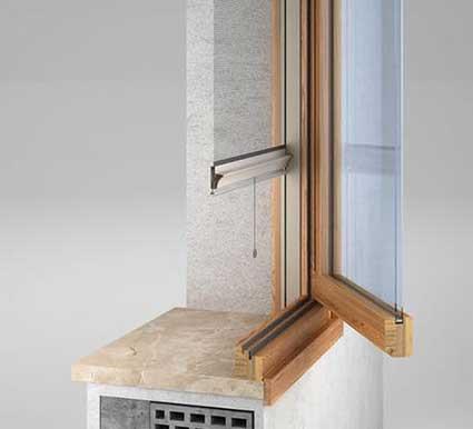 Zanzariere per finestra in legno a Mantova