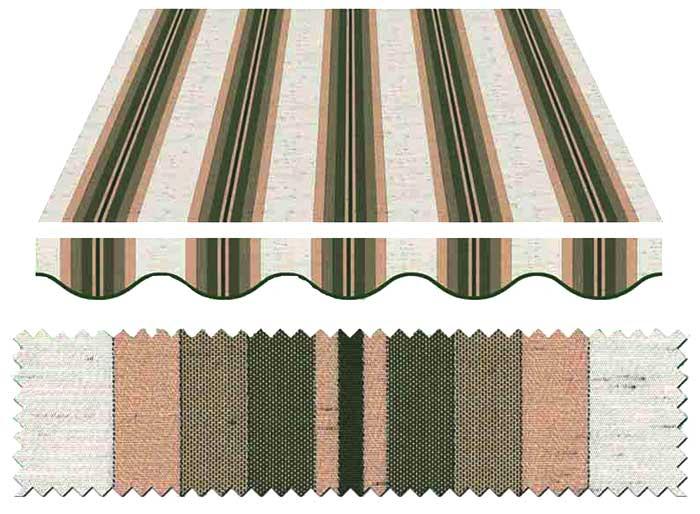 Tende da sole Como | Esempi di colore e tessuti tonalità verde