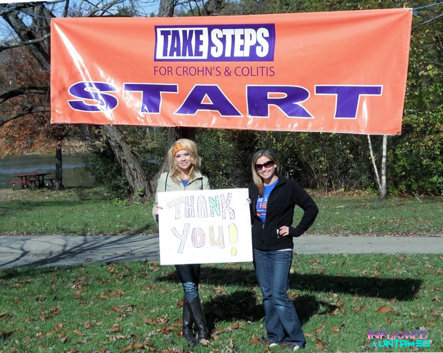 With my friend Alison who was the honored hero at the walk
