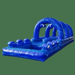 Dual Lane Slip N Slide w/ Pool
