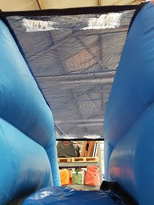 roof before repairing on a bouncy castle