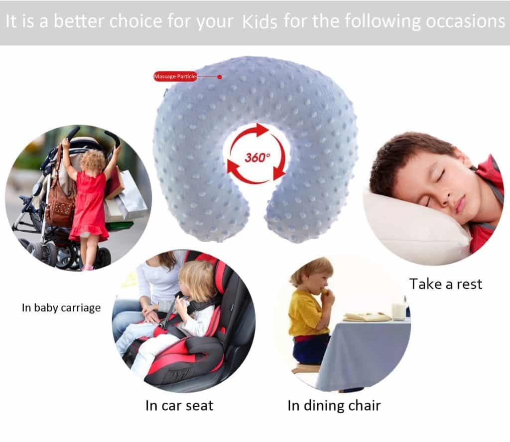 pikovic kid s inflatable travel pillow