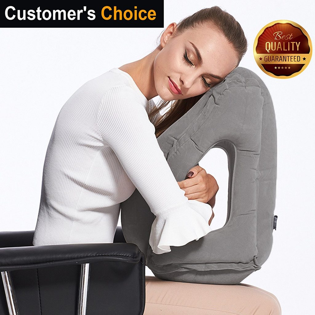inflatable travel pillow sleep aid