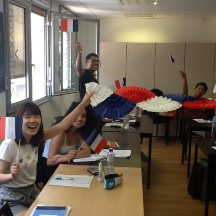 Great atmosphere during French classes after France winning the World Cup