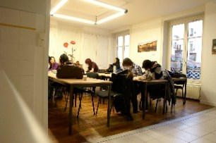 Students at work