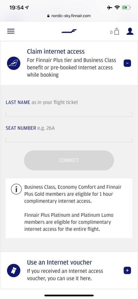 Finnair WiFi