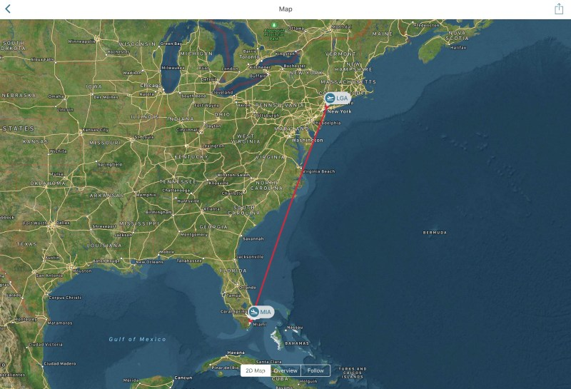 App in the Air route