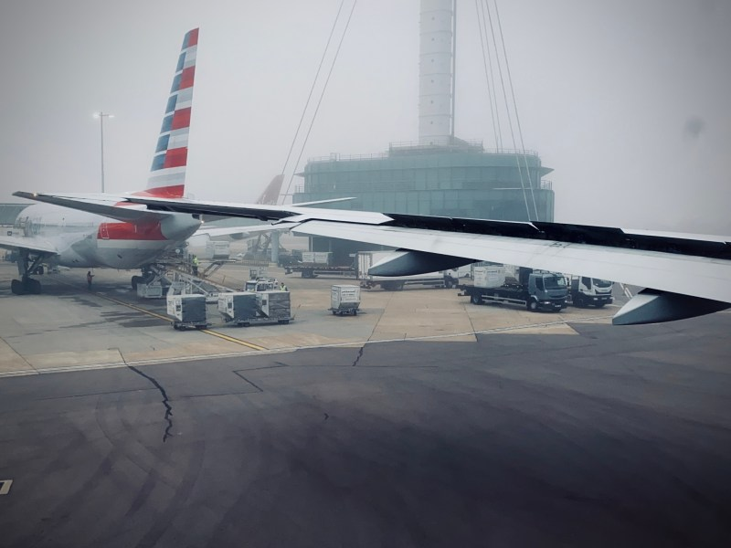 American Airlines 777 wingview