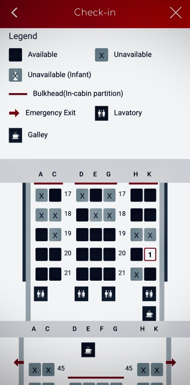 Japan airlines seat map