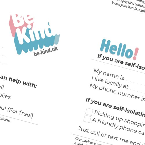 Be Kind Help Printable