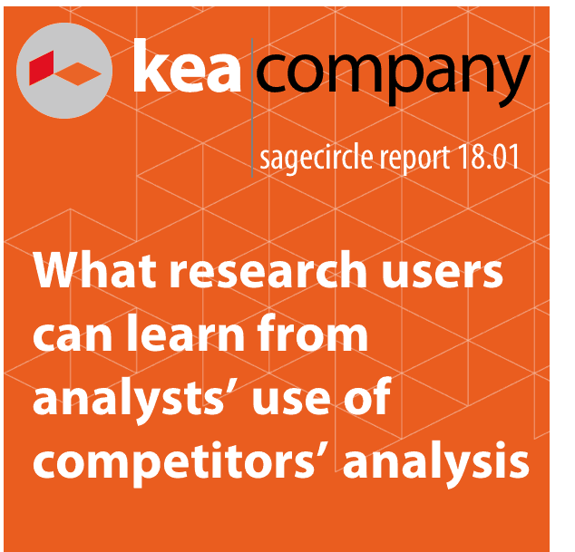 What research users can learn from analysts' use of competitors' analysis
