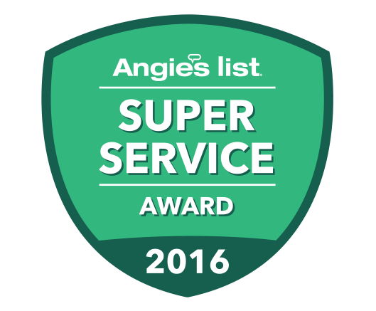 Angie's List Super Service Award 2016!