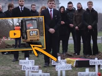 Merkels Tote, Begräbnis