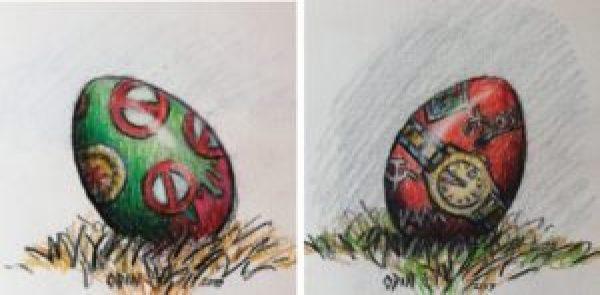 """""""Das Partei-EI"""" Zeichnung von Odin Wiesinger"""