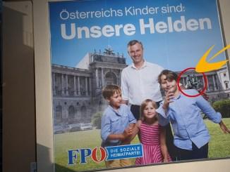 Geheime Botschaft auf FPÖ-Plakaten?