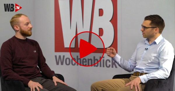 Julian Utz (Wochenblick) und Michael Scharfmüller (Info-DIREKT) beim Interview.