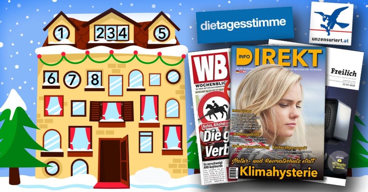 Adventkalender, Tür 8: Medien-Strategie