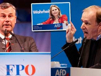 Aschermittwoch der FPÖ in Ried mit Norbert Hofer und Aschermittwoch der AfD in Osterhofen mit Corinna Miazga und Gottfried Curio: