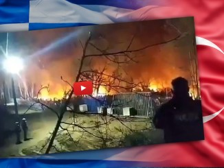 Die griechisch-türkische Grenze brannte vergangene Nacht auf einer großen Länge.