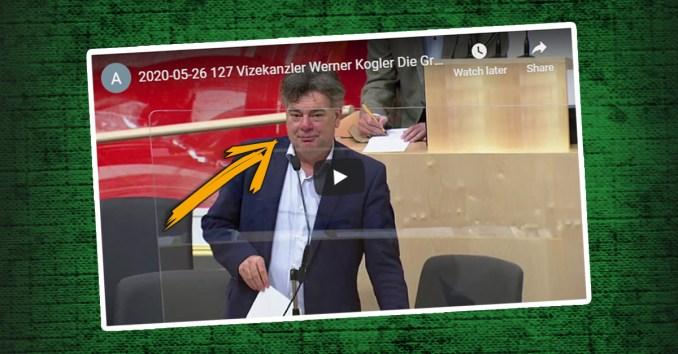 Vizekanzler Werner Kogler (Grüne) bei seiner Rede zum Kulturbudget
