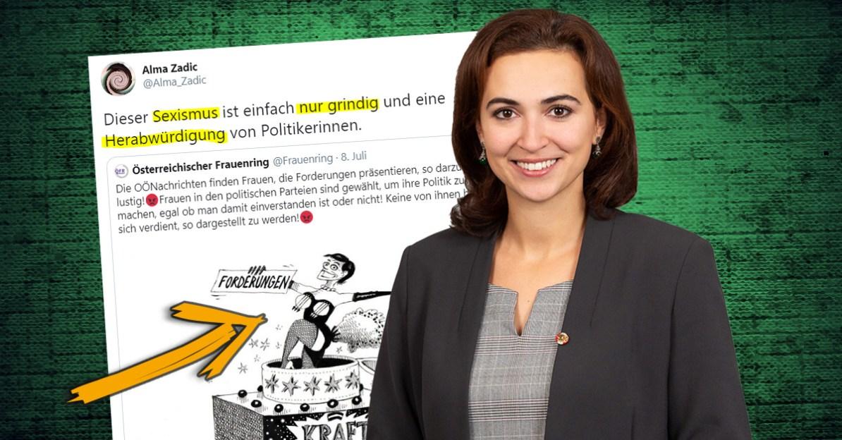 Pamela-Rendi-Wagner-Karikatur: Empörung von Justizministerin Alma Zadic (Grüne) legt Doppelmoral offen