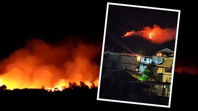 Auch in der Nähe des Asyllagers auf Samos kam es zu Brandstiftungen.