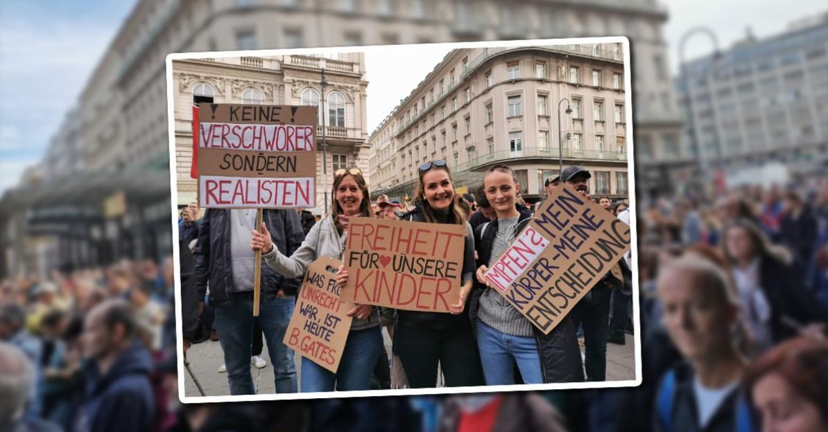 Bilder der Demonstration gegen die Corona-Maßnahmen der Regierung am 26. Oktober 2020
