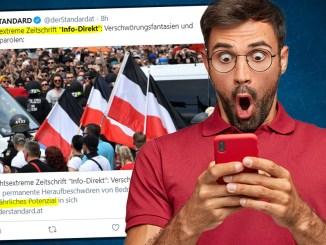 """Einfach nur plump: widerliche Hetze gegen Info-DIREKT im """"Standard"""""""