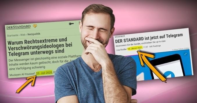 """Zum kaputt lachen: Doppelstandards beim """"Standard"""""""