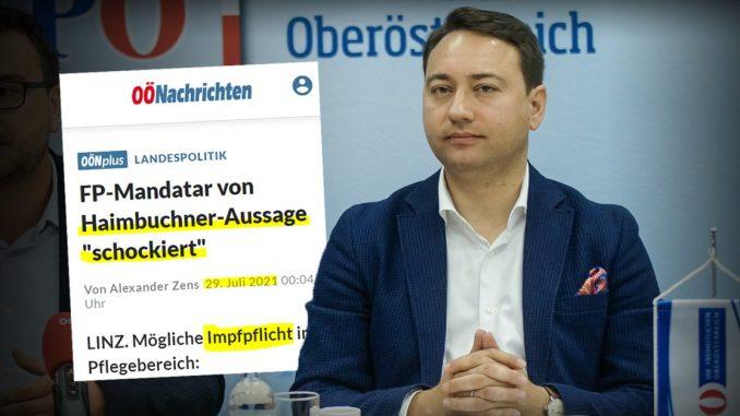 """Auch Parteifreund """"schockiert"""": FPÖ-Haimbuchner für Impfpflicht offen"""