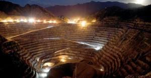 Minera Alumbrera de noche