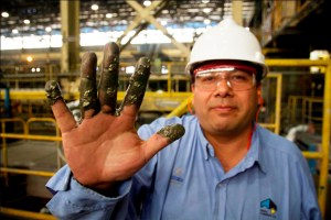 Álvarez, metalurgico empleado en Minera Alumbrera