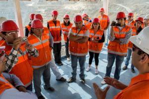 Periodistas de Andalgalá visitando Minera Alumbrera