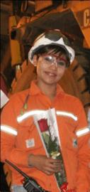 Noelia trabaja hace 7 años en Minera Alumbrera