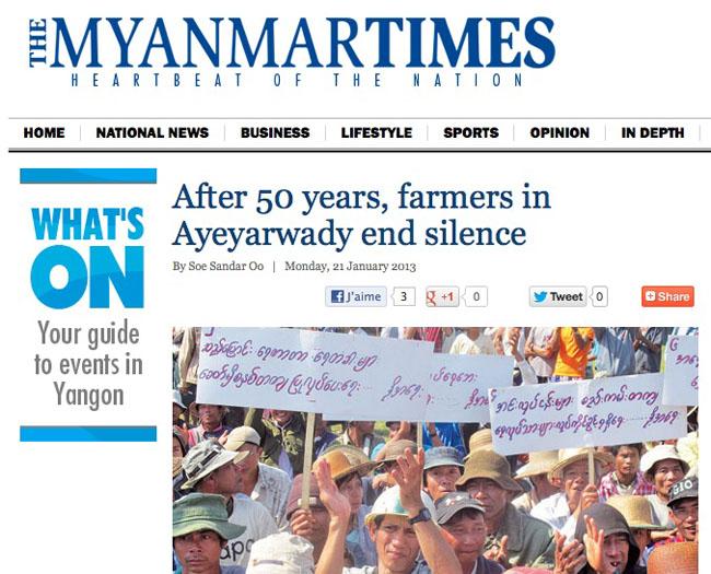 Birmanie : les paysans du delta se rebiffent