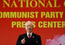 Vietnam's President Nguyen Phu Trong speaks at a news conference after he is re-elected as Communist Party's General Secretary for the 3rd term after the closing ceremony of 13th national congress of the ruling communist party in Hanoi, Vietnam 1 February, 2021 (Photo: Reuters/Kham).