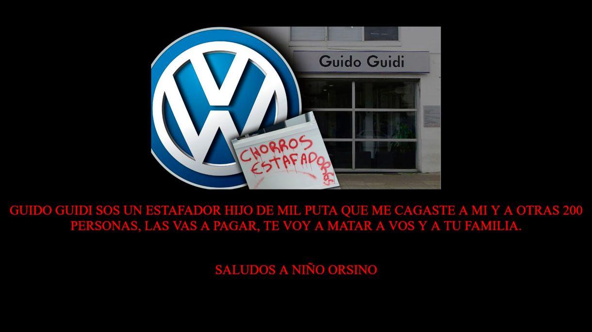 Hackearon la página web de Guido Guidi, el ex concesionario de Volkswagen que estafó a más de 200 clientes