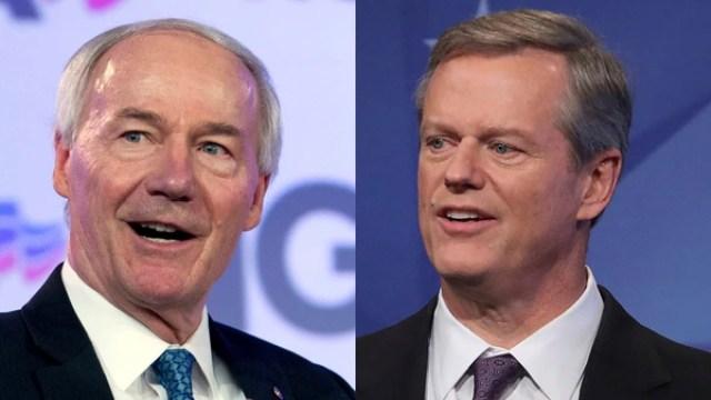 Charlie Baker (Massachusetts) y Asa Hutchinson (Arkansas) fueron reelegidos como gobernadores