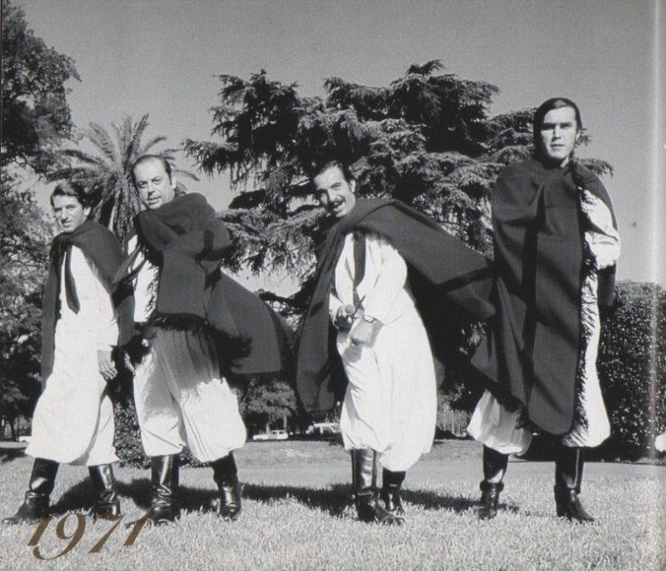 Ernesto Cabeza, Juan Carlos Saravia, Polo Román y Pancho Figueroa en 1971